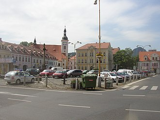 Teplice District - Image: Bilina CZ main square from N 002