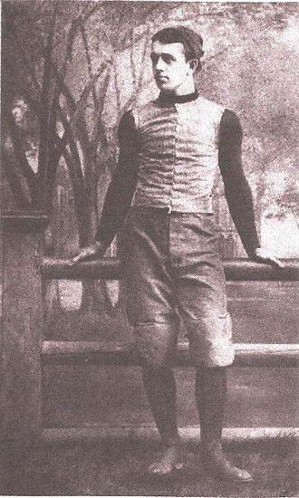 William Rhodes (American football) - Portrait of Rhodes from Walter Camp's 1894 book, American Football