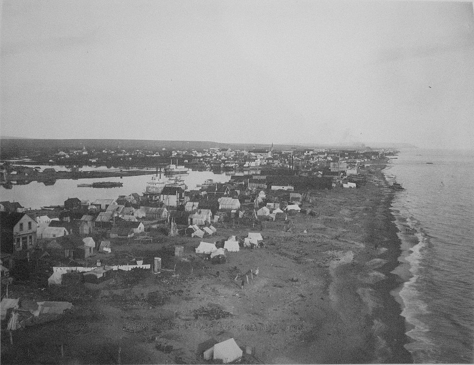 Bird's-eye View of Nome Alaska - 1907