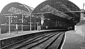 Birkenhead Woodside railway station - Birkenhead Woodside railway station in 1961