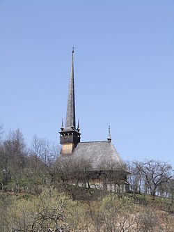 Wooden church in Fildu de Sus