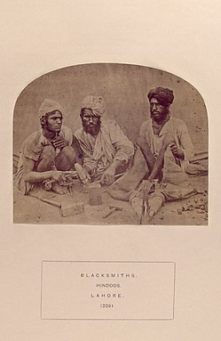 Lohar ethnic group in Northern India, Pakistan, and Nepal