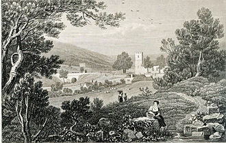 Henry Gastineau - St Peter's, Blaina, 1820. steel engraving from a drawing by Henry Gastineau.