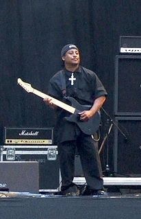 Ernie C lead guitarist of heavy metal band Body Count