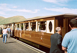 Rhyd Ddu railway station - Image: Bodysgallen at Rhyd Ddu