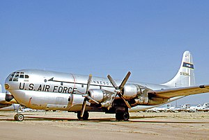 Boeing C-97 Stratofreighter - Boeing KC-97G Stratofreighter of the Minnesota Air National Guard in 1971 after service as part of Military Airlift Command