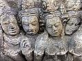 Borobudur - Divyavadana - 075 W, Candrapabha returns from Heaven to advise the King (detail 1) (11706168185).jpg