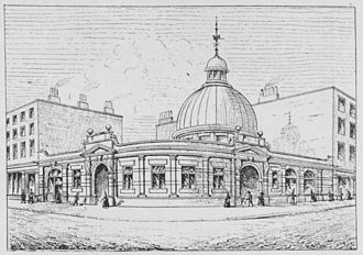 Borough tube station - Borough station in 1890
