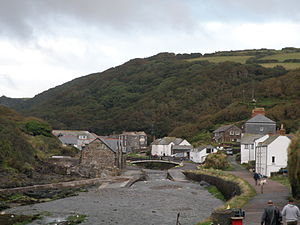 Boscastle -  View from the path leading to the harbour