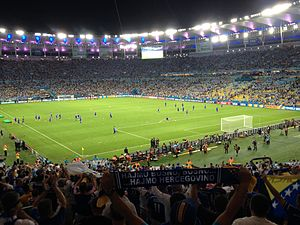Bosnia players at Maracanã 15 June 2014
