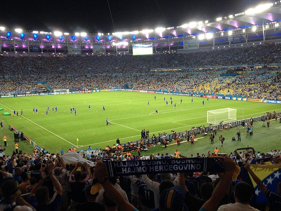 Bosnia players at Maracan%C3%A3 15 June 2014