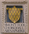 Bottega della robbia, stemma simonetto di corso dall'arena, 1512.JPG