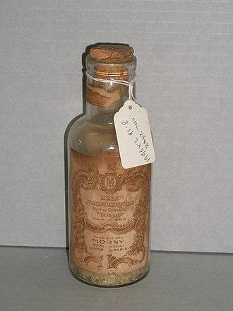 Bath salts - Bottle of bath salts by Morny, England