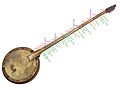 Bowed tanbur with perde (fret) positions and traditional names according to author's Yarman-24 tuning.jpg