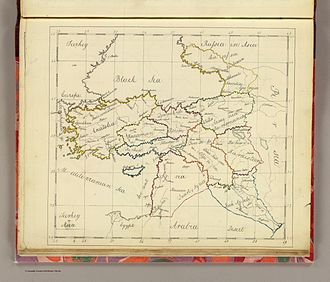 Syria (region) - An 1810 map of the Ottoman Empire in Asia, showing the region of Ottoman Syria