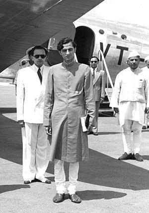 Bishweshwar Prasad Koirala - Home Minister BP Koirala in Delhi 1951