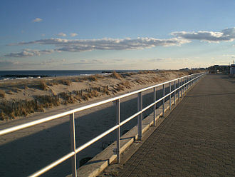 Bradley Beach, New Jersey - The beach and boardwalk of Bradley Beach