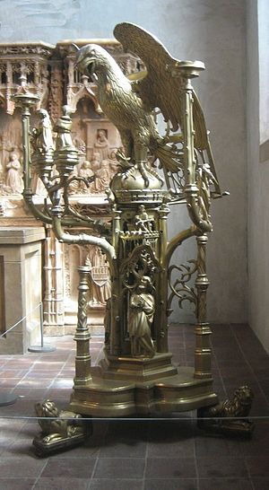 Brass - Brass lectern with an eagle. Attributed to Aert van Tricht, Limburg (Netherlands), c. 1500.