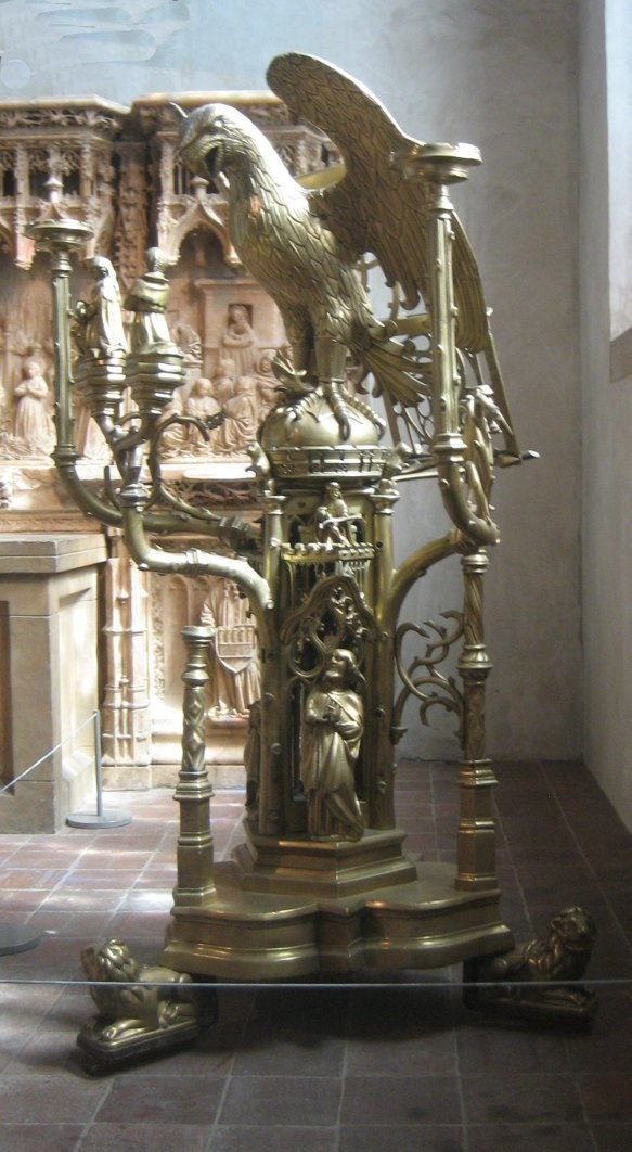 Brass lectern in the form of an eagle attributed to Aert van Tricht the Elder, Limburg (Netherlands), c. 1500, The Cloisters