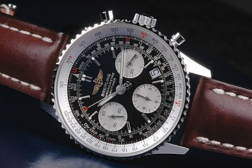 12e32af69487 Breitling Navitimer wristwatch with circular slide rule.