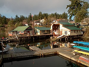 Brentwood Bay, British Columbia - Image: Brentwood Bay harbour 1