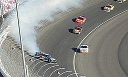 Brian Vickers Crash - Las Vegas