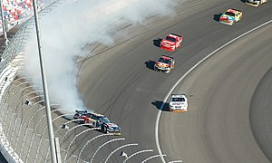 Brian Vickers Crashes at the 2008 Las Vegas NA...