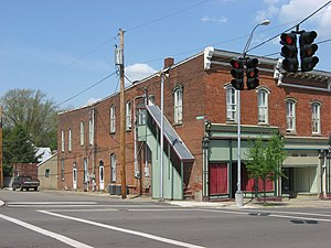 National Register of Historic Places listings in Knox County, Ohio - Image: Brick Commercial Block, Fredericktown