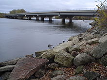 Bridge on Mississippi River between Minnesota and Wisconsin.JPG