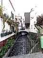 Bridge over stream and cafes, Funchal, Madeira.jpg