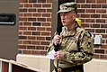Brig. Gen. John J. Elam addresses Soldiers, friends and family members of the 301st Maneuver Enhancement Brigade 170604-A-FG772-044.jpg