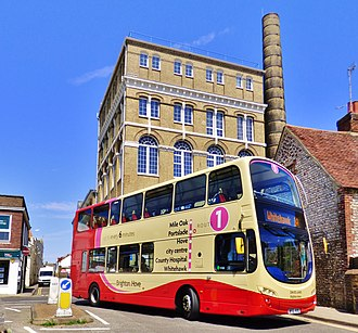 Brighton & Hove (bus company) - Wright Eclipse Gemini bodied Volvo in Portslade.