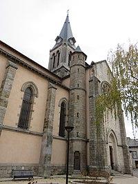 Brignais - Église Saint-Clair (clocher).jpg