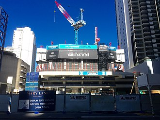 Brisbane Skytower - Image: Brisbane Skytower under construction in August 2016