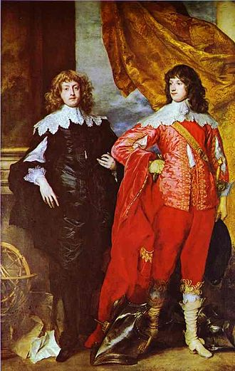 William Russell, 1st Duke of Bedford - Bedford (right), with George Digby, 2nd Earl of Bristol in a 1637 painting by Anthony van Dyck.