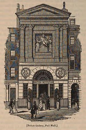 British Institution - The British Institution building from a wood-engraving in London (1851) edited by Charles Knight