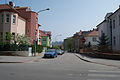 Brno-Cerna Pole - Tesnohlidkova ulice, vyfotografovana z Jugoslavske ulice.jpg