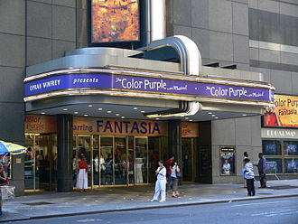 Broadway Theatre (53rd Street) - Entrance, showing The Color Purple