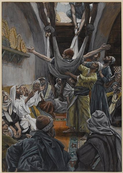 File:Brooklyn Museum - The Palsied Man Let Down through the Roof (Le paralytique descendu du toit) - James Tissot - overall.jpg