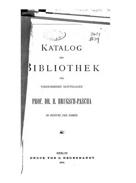 File:Brugsch Katalog des verstorbenen Ägyptologen.djvu