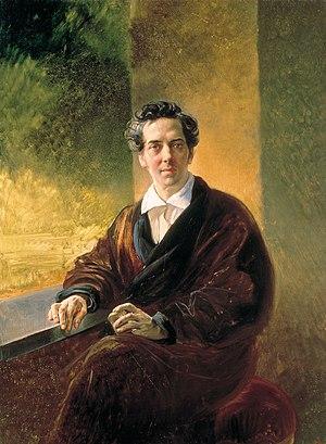 Antony Pogorelsky - Portrait of Count Alexey Perovsky by Karl Briullov, 1835