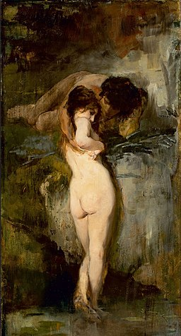 Bruno Piglhein - Pair of lovers at a spring 1890
