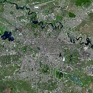 Bucharest seen from Spot satellite