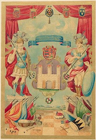 Buda - Image: Buda város címere 1703