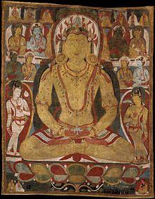 cdab47604 Thangka - Image: Buddha Amitayus attended by bodhisattvas 11th century.  Metmuseum