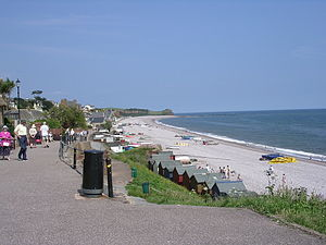 Budleigh Salterton - The sea front, looking east towards Sidmouth