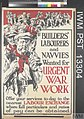 Builders' Labourers and Navvies Wanted for Urgent War Work Art.IWMPST13304.jpg