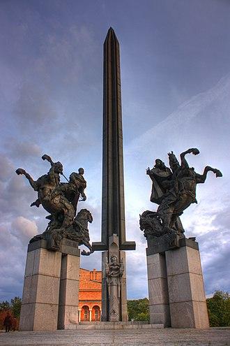 Asen dynasty - Monument to the Asen dynasty in their capital Veliko Tarnovo, Bulgaria, sculptor prof. Krum Damianov