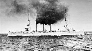German Dresden-class cruiser