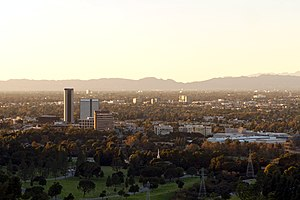 Burbank, California - Looking northwest over Burbank from Griffith Park.